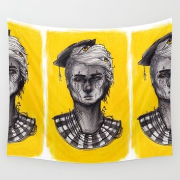 Seen in Yellow Wall Tapestry by Ben Geiger