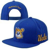 Mitchell & Ness UCLA Bruins Vintage Basic Logo Snapback Adjustable Hat - True Blue
