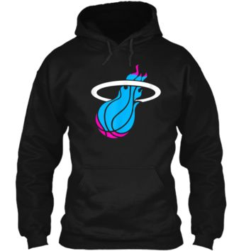 Miamis vices heat basketbal  Pullover Hoodie 8 oz