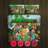 Set Gift Minecraft Fleece Blanket Large and 2 Pillow case #87582993,87582994(2)