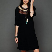Free People Womens Ribbons And Rows Dress - Black, XS
