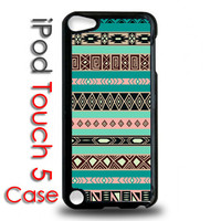 iPod Touch 5 5th Generation Black Plastic Case - Aztec Tribal Pattern Indian Print - iPod 5 Cover