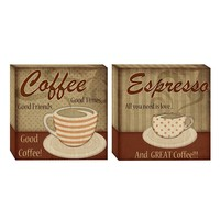 Head West 2-pc. Classic Coffee Wall Art Set (Red)