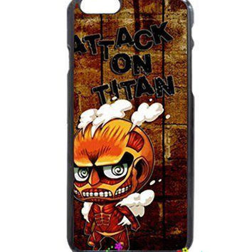 Attack on Titan Cute Titan Protective cellphone case cover for iphone 4s 5s 5c 6s plus Samsung Galaxy S3/4/5/6/edge+ Note2/3/4/5