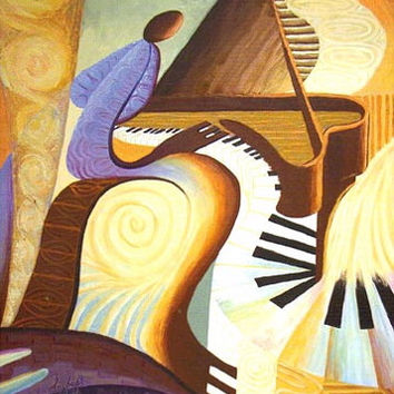 Piano (Offset Lithograph)  *** $pecial Offer ***