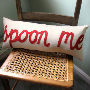 ON SALE SPOON Me Cotton Bedroom Pillow with High by Buffalovely