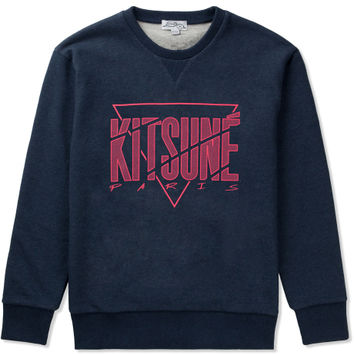 Navy Melange Cracked Kitsune Sweater
