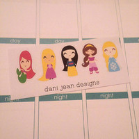 5 Princess Stickers