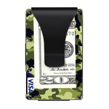 The Ridge Wallet with Money Clip - Military Green