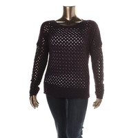 Private Label Womens Cashmere Crochet Pullover Sweater