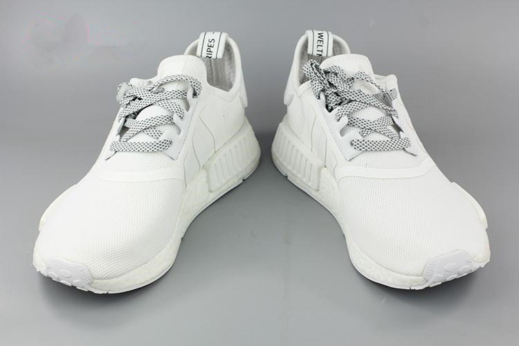 ... Women  quite nice 42f13 cd2c4 Adidas NMD R1 White Running Sport Casual  Shoes Sneakers ... e8476cd40c34