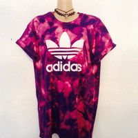 Unique complete one iff acid wash tie dye adidas tshirt urban swag festival