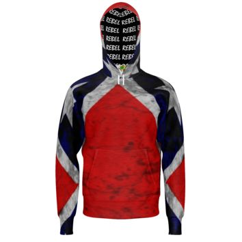 "Rebel Flag with ""Rebel"" lining - unique Hoodies for Men"