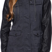 Empyre Quincy Charcoal & Black Military Jacket