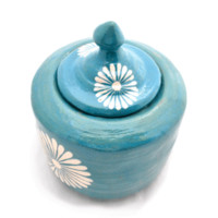 Small Dotty Colorful Vase (Blue)