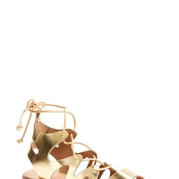 Women's Topshop 'Fig' Cutout Lace-Up Gladiator Sandal,
