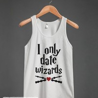 I Only Date Wizards-Unisex White Tank