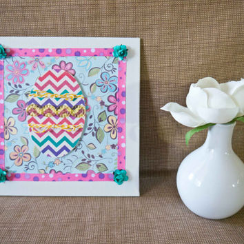 Easter - Embellished Mini Canvas - Spring Decor