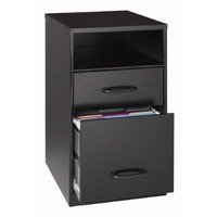 Lorell 18505 2-Drawer Mobile File Cabinet with Shelf, 18-Inch