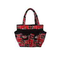 University of Louisville Cardinals Print Bingo Bag // Craft Organizer // Makeup Organizer // Caddy // Teacher Tote // Nurse Tote