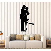 Vinyl Wall Decal Loving Couple Love Romantic Art Stickers Unique Gift (364ig)