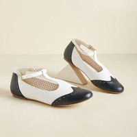B.A.I.T. Footwear Joy and Merriment T-Strap Flat in Navy