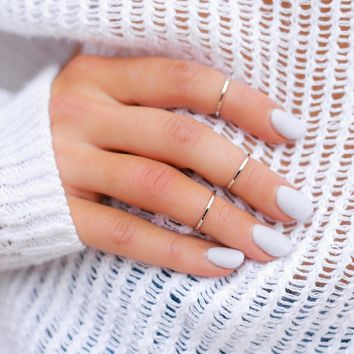 Triple Threat Ring Set - Silver