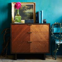 Chevron Grain 3-Drawer Dresser