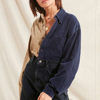 Urban Renewal Recycled Spliced Corduroy Shirt | Urban Outfitters