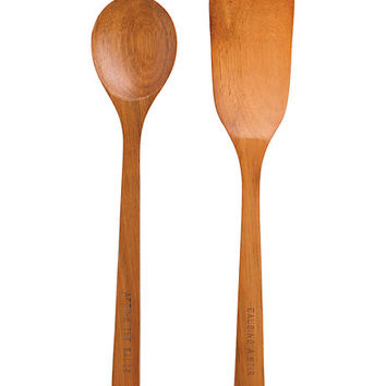 Kate Spade Set Of 2 Wooden Utensils Wood ONE