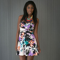 Cynthia's Watercolor Flower Print Dress
