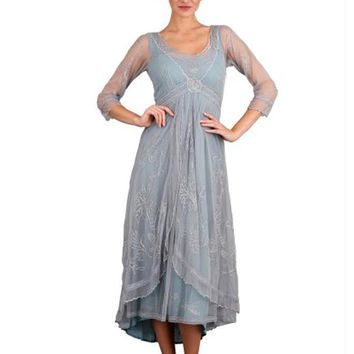 Nataya 40163 Downton Abbey Style Tea Party Dress in Sunrise