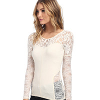 Free People Sweet Thang Top Cream - 6pm.com