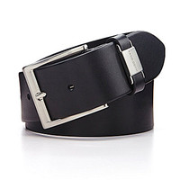 BOSS Hugo Boss Connio Metal-Tab-Detailed Leather Belt - Black