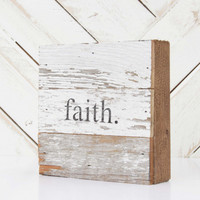 Faith Wooden Sign - Gifts/Home Decor