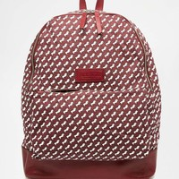 Jack Wills | Jack Wills Heritage Forse Print Canvas Backpack with Leather Trims at ASOS
