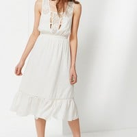 UO Antoinette Lace Trim Midi Dress | Urban Outfitters