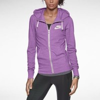 Nike Gym Vintage Full-Zip Women's Hoodie - Red Violet