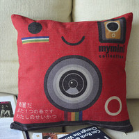 Camera Print Decorative Pillow [107] : Cozyhere