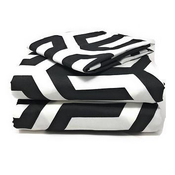 Tache Sophisticated Condo Monochrome Flat Sheet Set (2141FLT)
