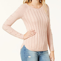 Maison Jules Cable-Knit Sweater, Created for Macy's | macys.com