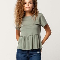 IVY & MAIN Solid Womens Babydoll Tee | Knit Tops + Tees