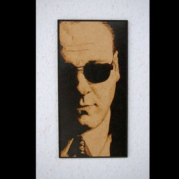 Tony Soprano woodburned wall decoration