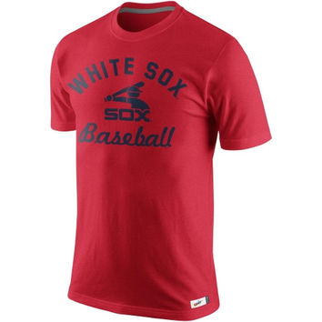 Nike Chicago White Sox Vintage Cooperstown Collection Tri-Blend T-Shirt - Red