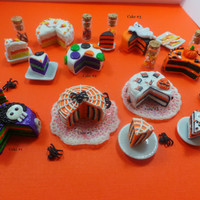 Miniature 1:12 Scale Halloween Cakes - Choose From 5!