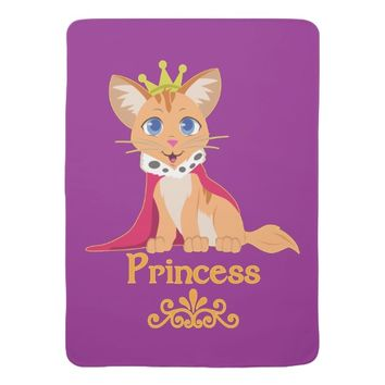 Princess Kitten Baby Blanket