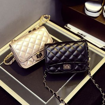 Stylish Korean Fashion Chain One Shoulder Bags Mini Lock [6581807047]