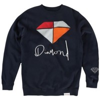 Diamond Supply Co Painted Crew Sweatshirt - Men's at CCS