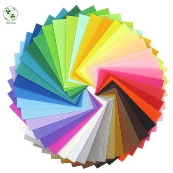 30X30CM Craft Felt 40 Colors DIY Felt Fabric Cloth Nonwoven 1MM Thickness Polyester Cloth DIY Bundle For Sewing Dolls Craft