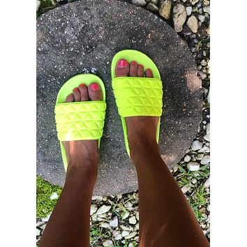 Neon Yellow Slides